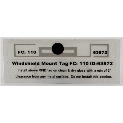 Windshied Mount-Non/Transferable 2 Piece